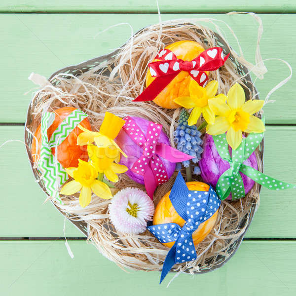 Colorful easter basket Stock photo © BarbaraNeveu
