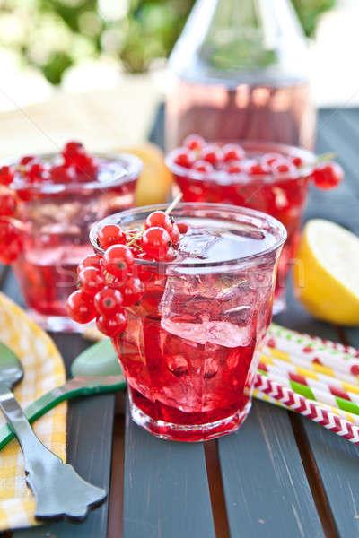 Frische Limonade mit Johannisbeeren Stock photo © BarbaraNeveu