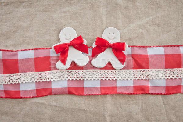 ストックフォト: 素朴な · クリスマス · リボン · 装飾 · 面白い