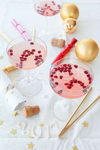 Pink cocktail for christmas Stock photo © BarbaraNeveu