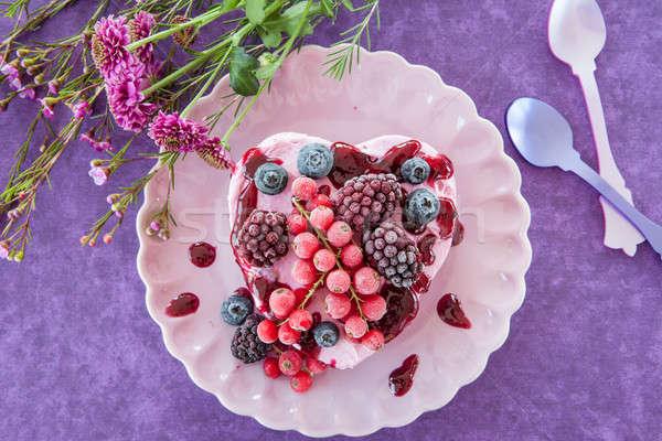 Ice cream in a heart-shape Stock photo © BarbaraNeveu