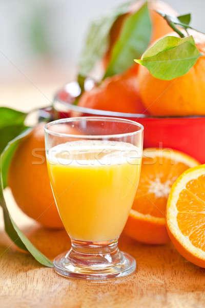 Glass of fresh orangejuice Stock photo © BarbaraNeveu