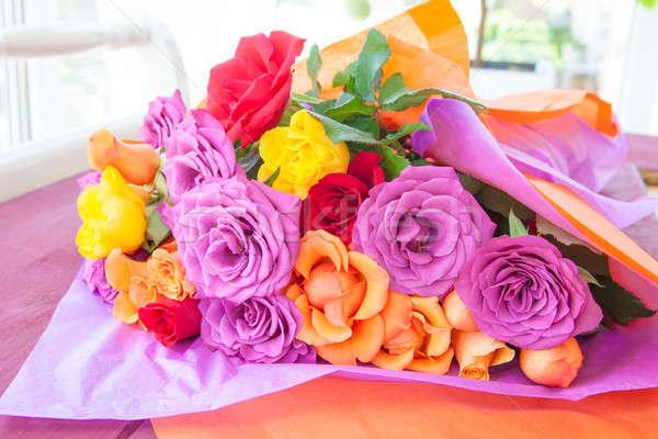 Bright colored roses Stock photo © BarbaraNeveu