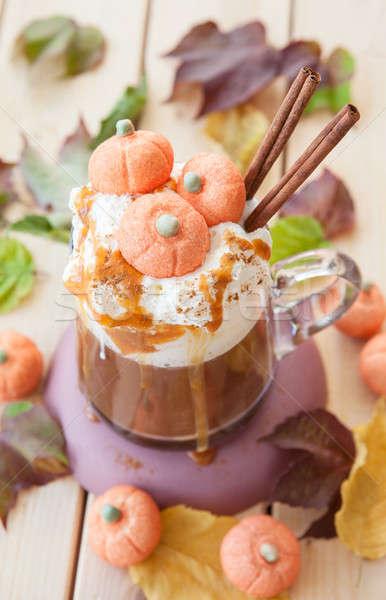 Stock photo: Pumpkin spice Caffe latte