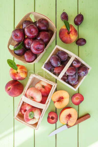 Wybór kamień owoce świeże dojrzały Zdjęcia stock © BarbaraNeveu