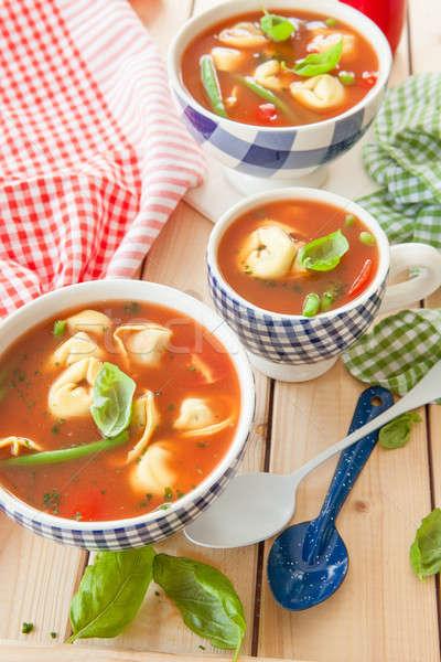 Rustic tomato soup Stock photo © BarbaraNeveu