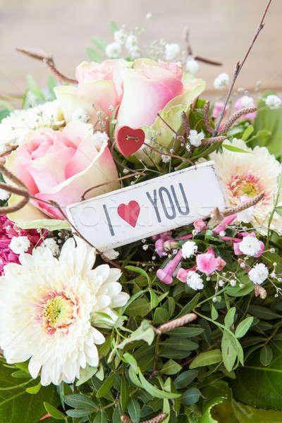 Colorato fresche fiori bouquet rosa rose Foto d'archivio © BarbaraNeveu