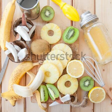 свежие плодов кокосовое молоко экзотический продовольствие Сток-фото © BarbaraNeveu