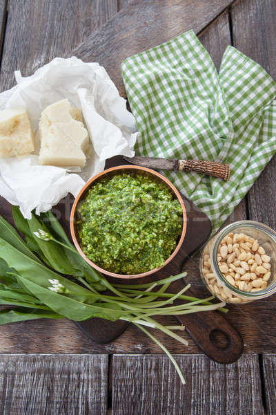 新鮮な ペスト ニンニク 自家製 パルメザンチーズ ストックフォト © BarbaraNeveu