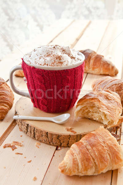 Fresh croissants and coffee Stock photo © BarbaraNeveu