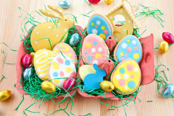 Colorful ccokies for easter Stock photo © BarbaraNeveu