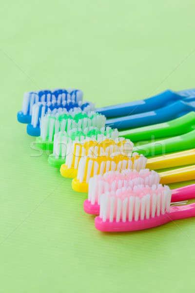 Stock foto: Farbenreich · Zahn · hellen · neon · Farben · grünen