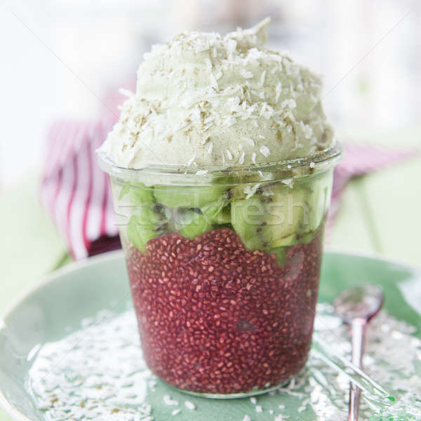 Chia Pudding with Kiwi Stock photo © BarbaraNeveu