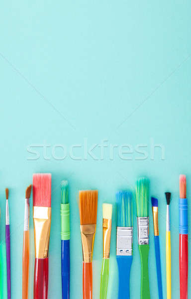 Colorful paint brushes Stock photo © BarbaraNeveu