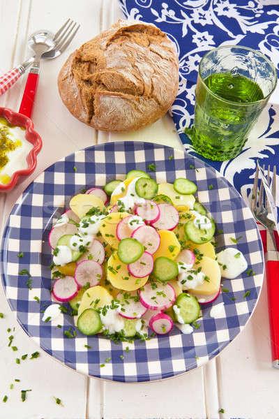 ポテトサラダ 新鮮な キュウリ 胡瓜 食品 ストックフォト © BarbaraNeveu