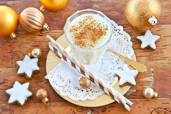 Eggnog with cinnamon Stock photo © BarbaraNeveu