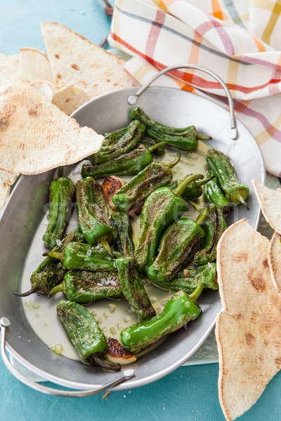 Fried Spanish peppers Stock photo © BarbaraNeveu
