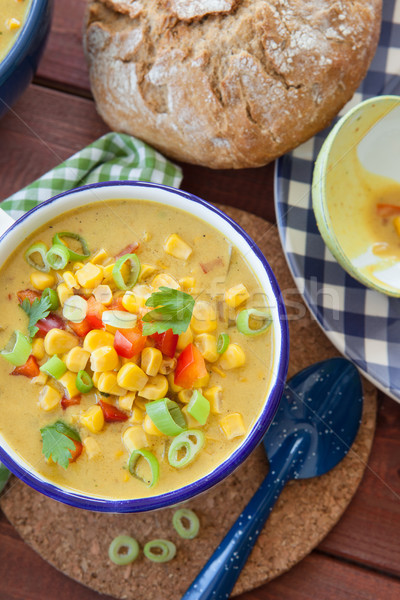 Kleurrijk vegetarisch mais Rood voorjaar Stockfoto © BarbaraNeveu