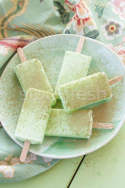 Fatto in casa congelato rustico piatto alimentare verde Foto d'archivio © BarbaraNeveu