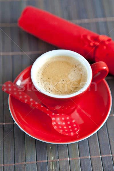 Espresso rouge tasse photo chaud Photo stock © BarbaraNeveu