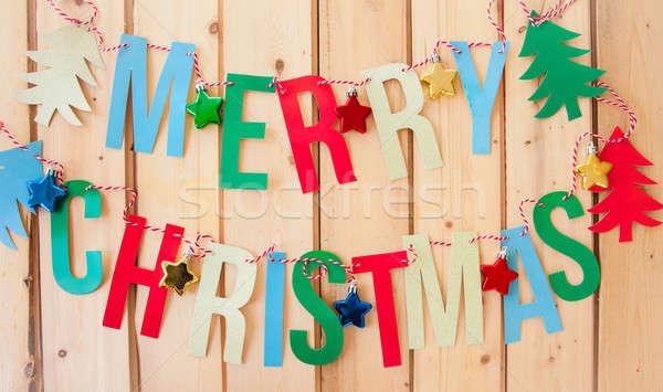 Merry Christmas garland Stock photo © BarbaraNeveu