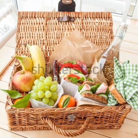 Filled picnic basket Stock photo © BarbaraNeveu