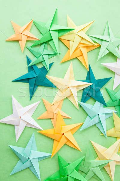 Colorato origami stelle luminoso piegato carta Foto d'archivio © BarbaraNeveu