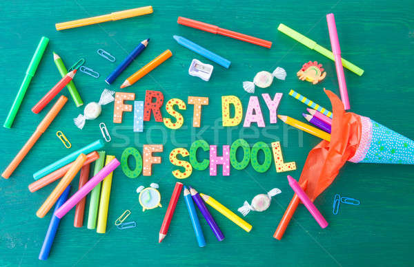 Background for the first day of school Stock photo © BarbaraNeveu
