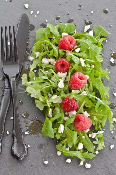 Arugula with feta and raspberries Stock photo © BarbaraNeveu