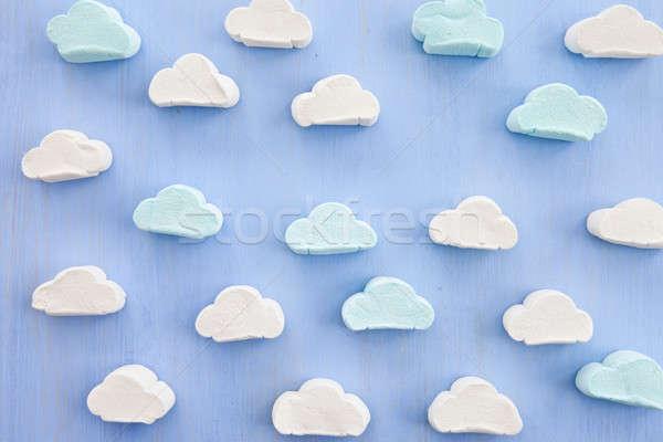 Nuvem formas azul céu diversão doce Foto stock © BarbaraNeveu