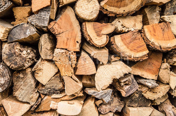 Stacked firewood background Stock photo © BarbaraNeveu