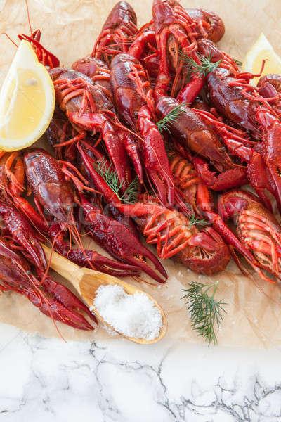 Boiled crawfish with dill Stock photo © BarbaraNeveu
