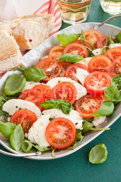 красочный салат Капрезе свежие помидоров моцарелла лет Сток-фото © BarbaraNeveu