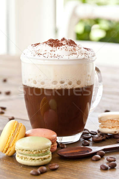 Cup of coffee with creamy milk foam Stock photo © BarbaraNeveu