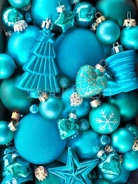 Background wth christmas baubles Stock photo © BarbaraNeveu