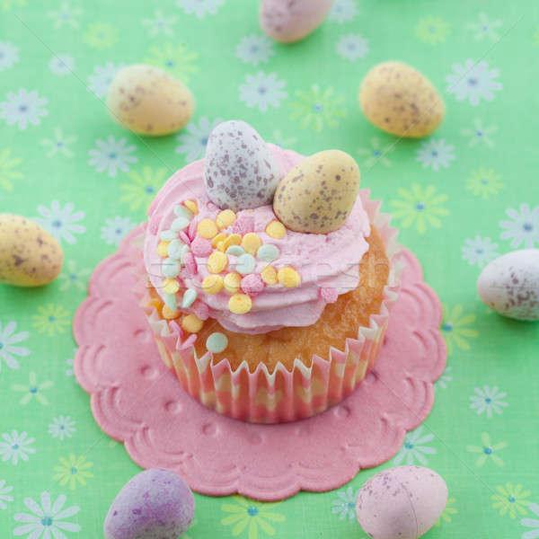 Little cupcake on green Stock photo © BarbaraNeveu