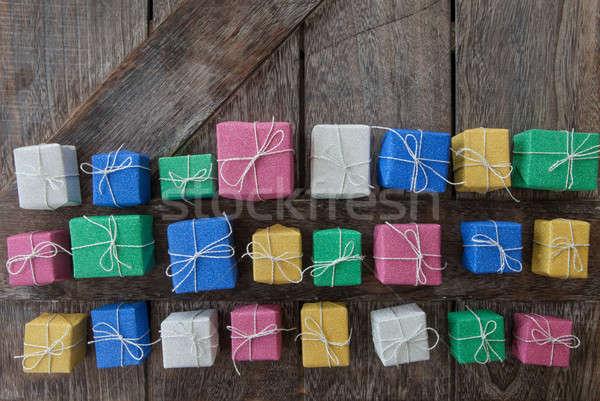 Little coloful gift boxes Stock photo © BarbaraNeveu