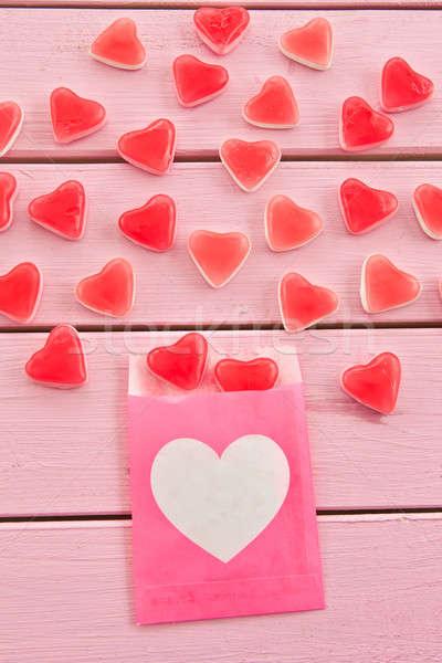 Gyümölcs zselé szív alak szív formák ki Stock fotó © BarbaraNeveu