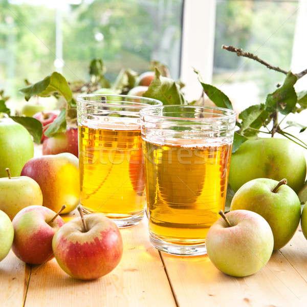 Almalé friss almák választék organikus étel Stock fotó © BarbaraNeveu