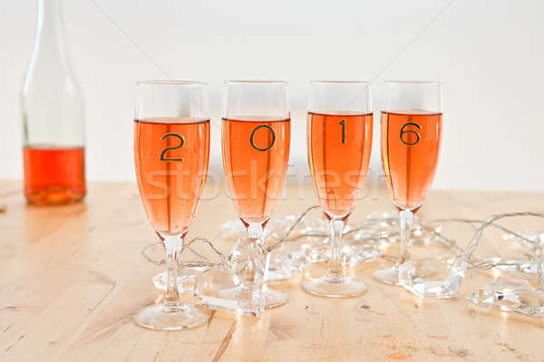 Champagne for New Year's Stock photo © BarbaraNeveu