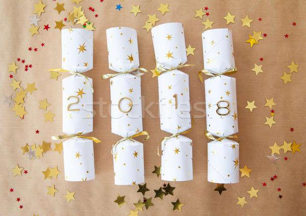 Party cracker with 2018 Stock photo © BarbaraNeveu