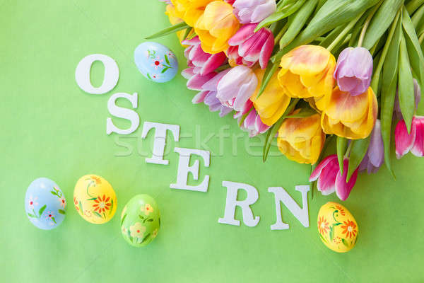 Easter background Stock photo © BarbaraNeveu