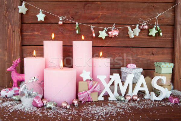 Cheerful christmas decorations Stock photo © BarbaraNeveu