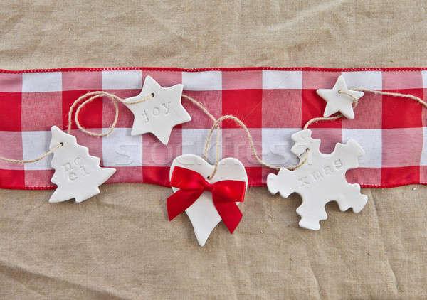 Rustic background for christmas Stock photo © BarbaraNeveu
