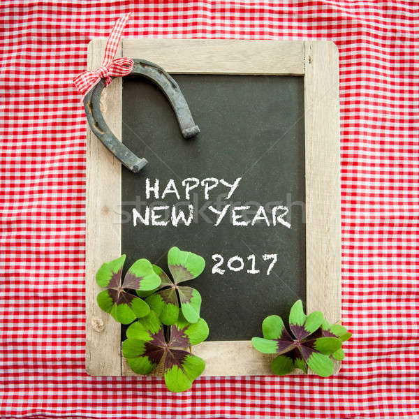 Vintage chalkboard with lucky charms Stock photo © BarbaraNeveu