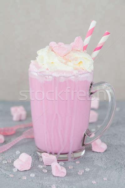 Pink hot chocolate / Milkshake Stock photo © BarbaraNeveu