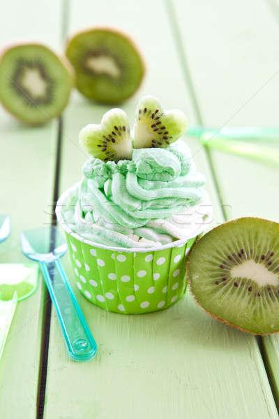 Zamrożone jogurt świeże kiwi wanilia Zdjęcia stock © BarbaraNeveu