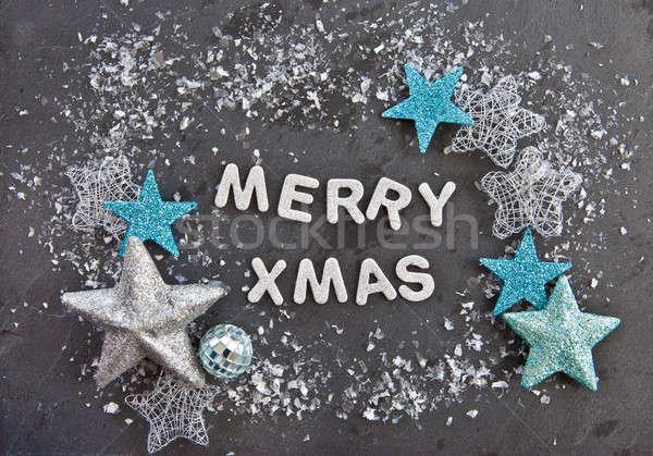 Merry Xmas on slate background Stock photo © BarbaraNeveu