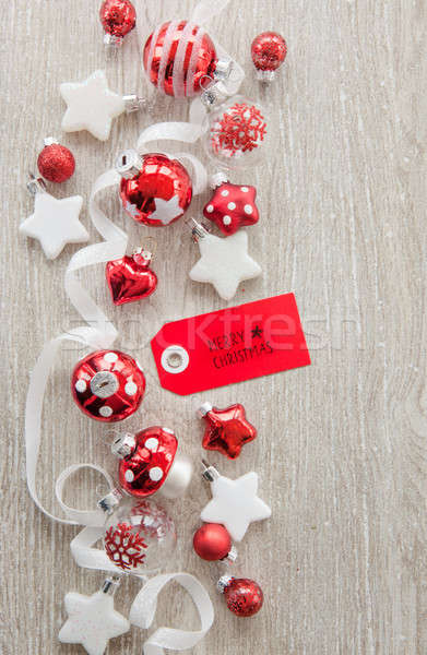 Christmas baubles and decorations Stock photo © BarbaraNeveu
