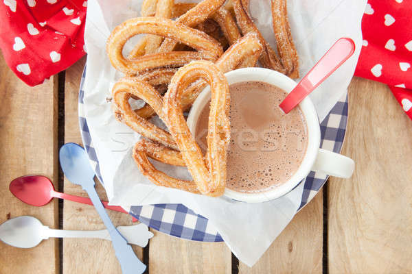 Nyami cukor fahéj mély sült étel Stock fotó © BarbaraNeveu